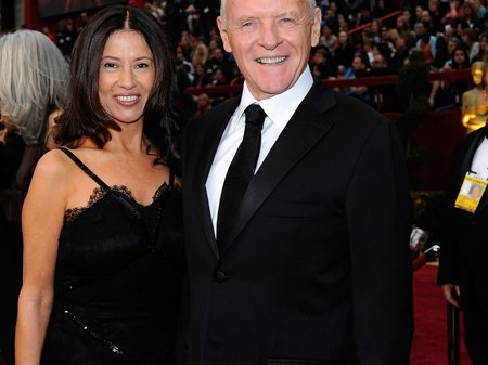 Sir Anthony Hopkins and wife Stella at The Oscars