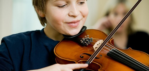 Child and violin