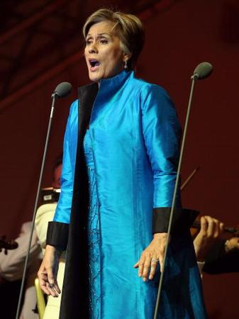 Dame Kiri Te Kanawa performs at the Tower of Londo
