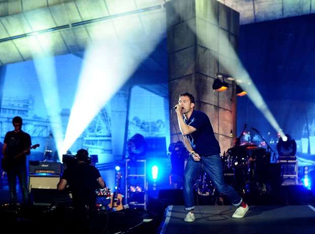 Blur perform at the BT London Live