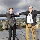 Jamie Crick and Tim Lihoreau on the roof