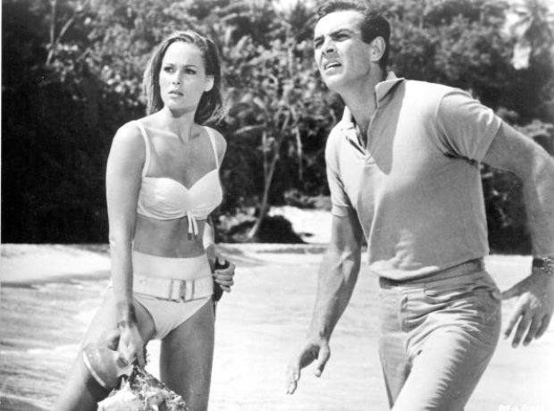 James Bond first movie: Dr No with Sean Connery and Ursula Andress