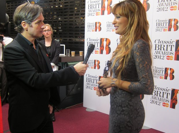 nicola benedetti Classic BRIT Awards 2012 backstage