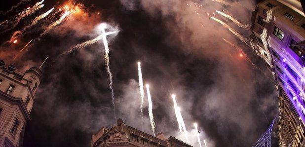 Regent Street Christmas Lights - fireworks 2