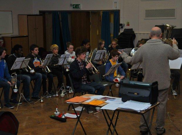 Birmingham Schools Brass Band rehearsal