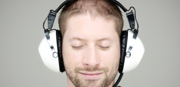 man in headphones