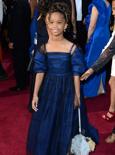 Quvenzhane Wallis at the Oscars 2013 red carpet
