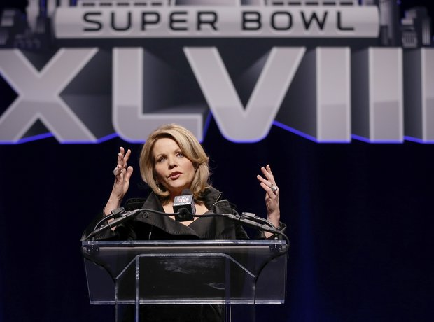 Renee Fleming at the Super Bowl