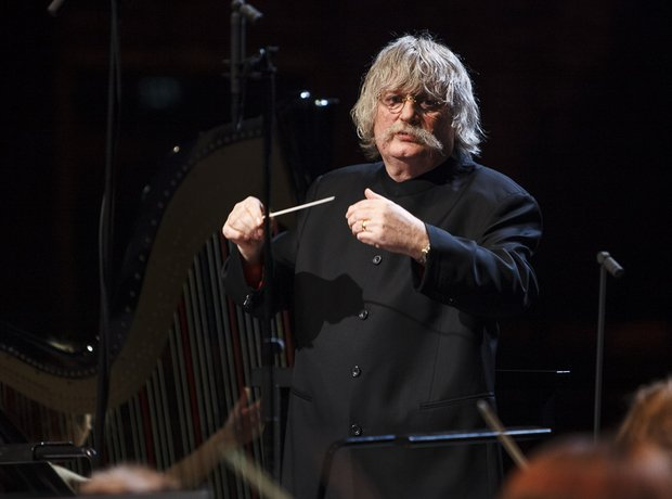 Karl Jenkins Classic FM live in Cardiff during reh