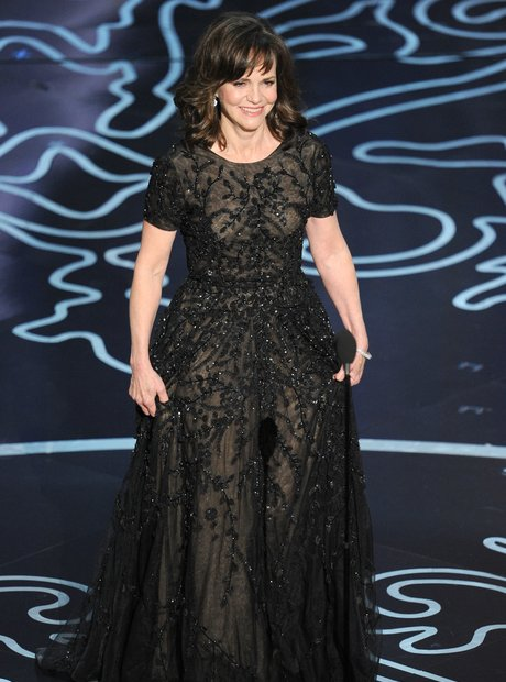Sally Fielding on stage at the Oscars 2014