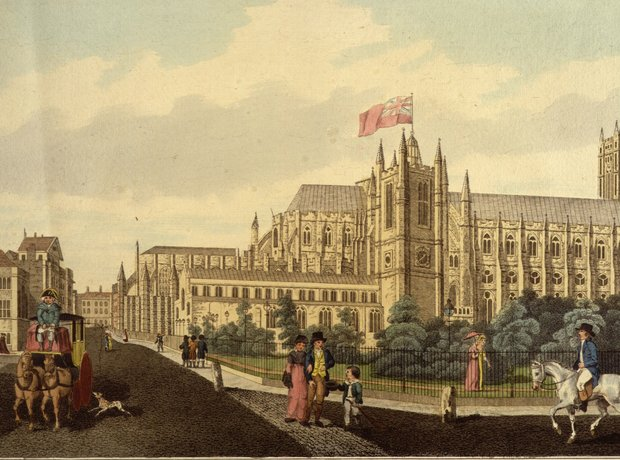 London Westminster Abbey Parliament Square 1822