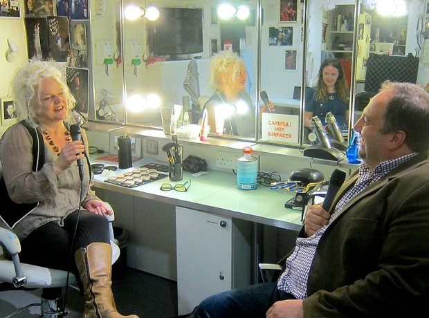 Wynne Evans Royal Opera House wig make-up Caroline O'Connor