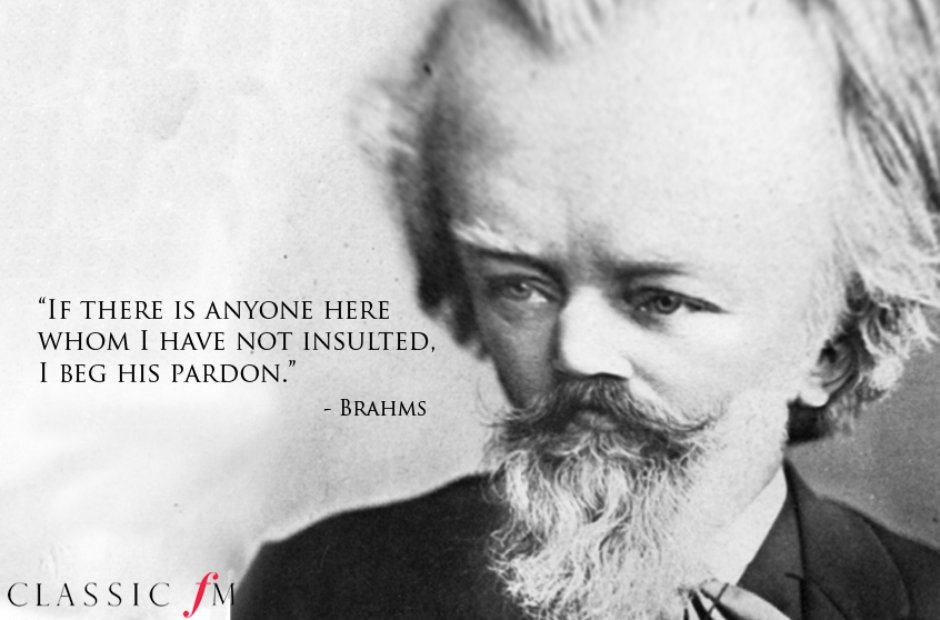 Egotistical composer quotes Brahms