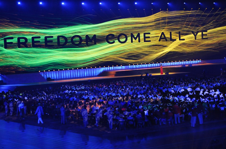 Pumeza Commonwealth Games opening ceremony Freedom