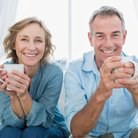 Mature couple drinking coffee