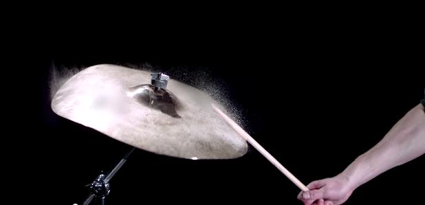 Cymbal slow motion