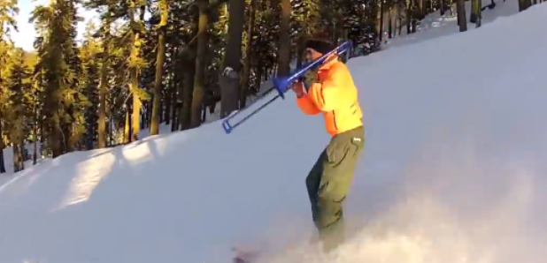trombone skiing guy