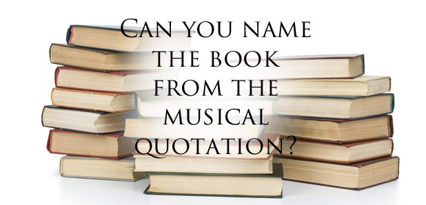 Musical quotations from books