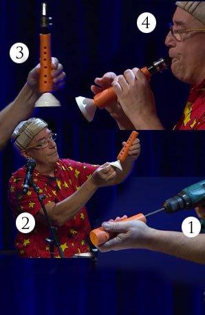Carrot clarinet megapod