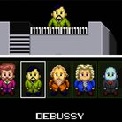 retro pixellated composers
