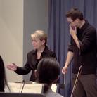 Marin Alsop conducting masterclass