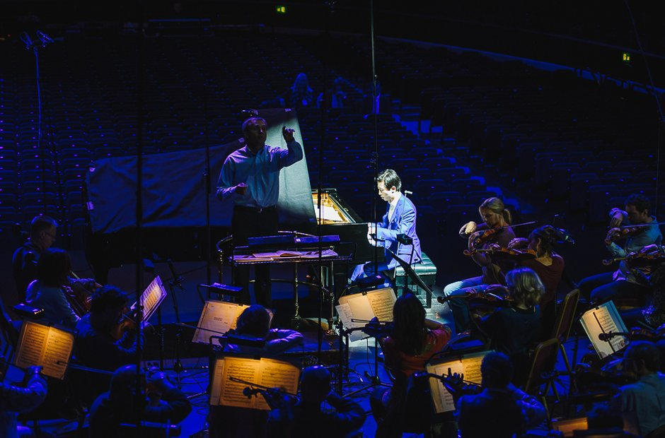 Rehearsals during classicfm live 2015 with Ji Liu