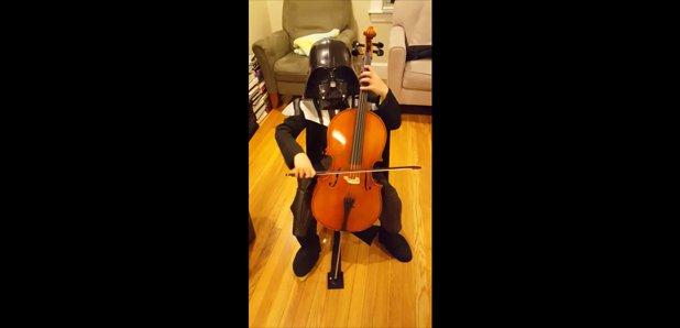 Darth Vader 7 year old cello