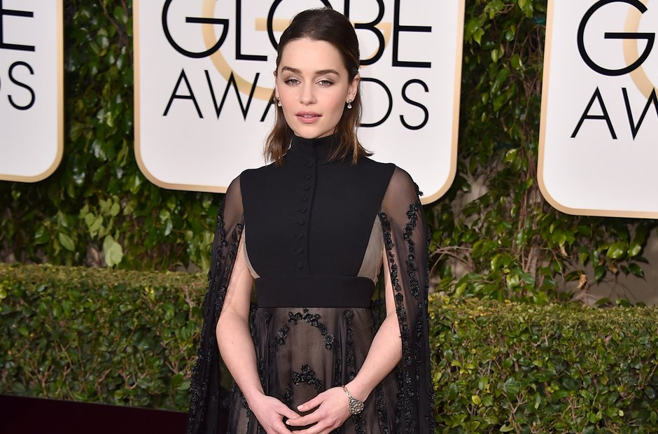 Emilia Clarke Golden Globe Awards 2016