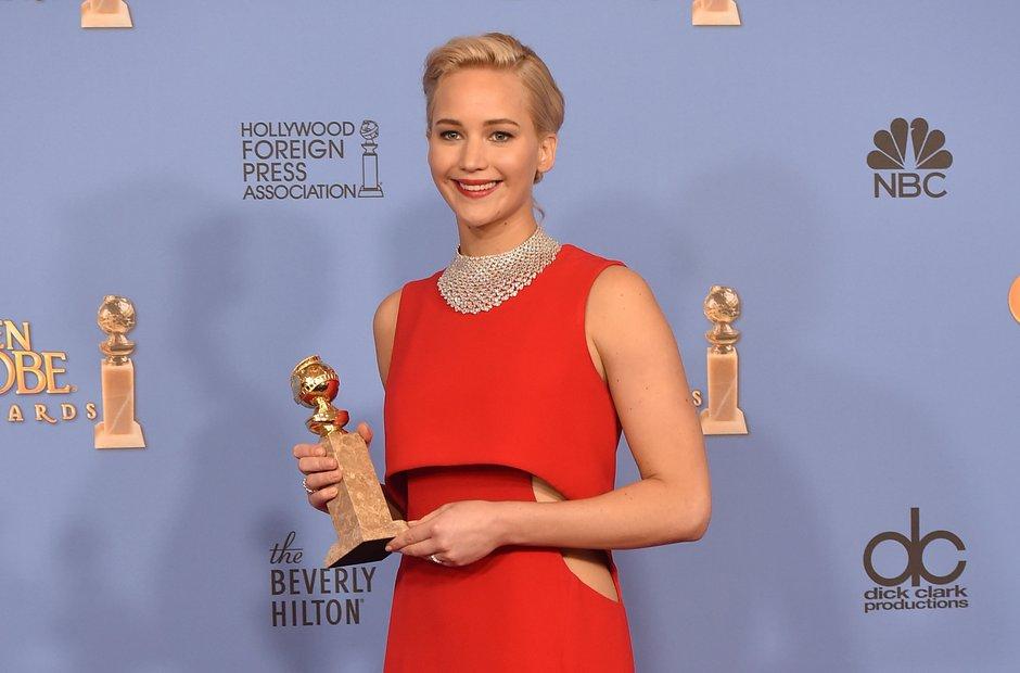 Jennifer Lawrence Golden Globe Awards 2016