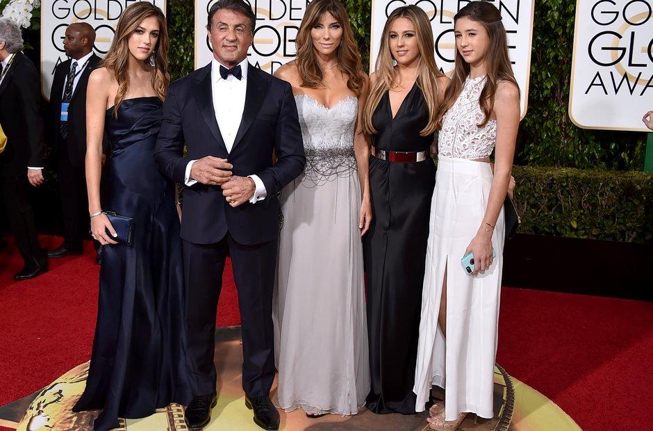 Sophia Stallone, Sylvester Stallone, Jennifer Flav