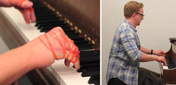 satie piano rubber bands