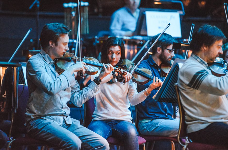 RSNO strings Royal Albert Hall