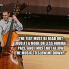 double bass failing