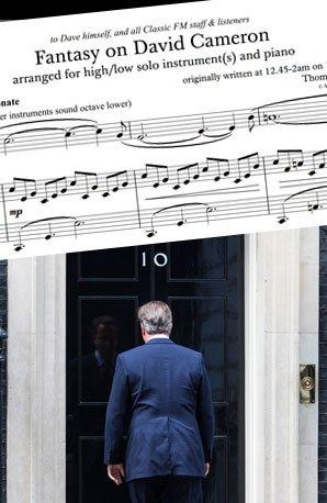David Cameron humming music