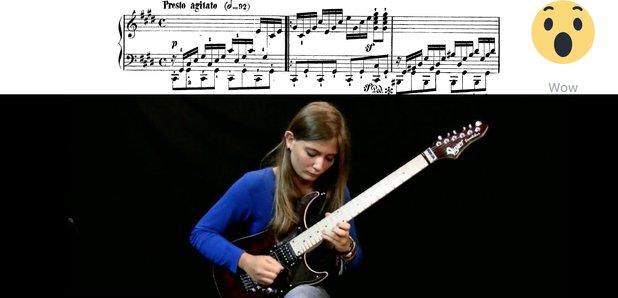 Tina S Beethoven electric guitar